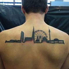 Pin for Later: 32 Skyline-Tattoos, die beweisen: Zuhause ist, wo dein Tattoo ist Wien