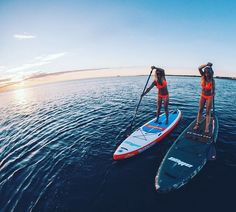 Stand up paddling with girlfriend