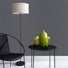 Kelly Hoppen Linen Texture Wallpaper, Midnight Shimmer