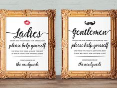 Wedding bathroom basket signs - womens and mens hospitality basket - his and hers bathroom signs - help yourself - printable and Bathroom Basket Wedding, Wedding Bathroom Signs, Bathroom Baskets, Wedding Reception Signs, Wedding Sparklers, Wedding Table, Creative Wedding Favors, Unique Wedding Favors, Wedding Ideas
