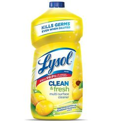 Lysol Power and Fresh All Purpose Lemon Sunflower Scent Cleaner - 48 oz., Yellow Lysol Power and Fre First Apartment Essentials, Apartment Checklist, All Purpose Cleaners, Fresh And Clean, Cleaning Supplies, Cleaning Products, Cleaning Hacks, Packaging Design, Label Design