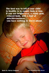A healthy sleeping boy how do you tell if your child is healthy.