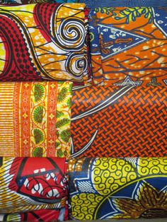 African cotton fabrics @Sarah Chintomby Chintomby Hand/eye magazine.