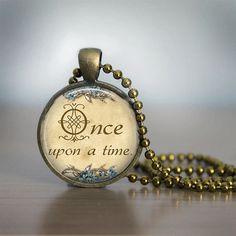 Fairy Tale Glass Tile Necklace by bluerosebeadery, $10.00