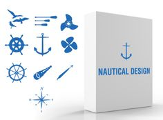 Saved by Jim Viola (jimmyviola). Discover more of the best Vector, Nautical, Icons, Pack, and Ocean inspiration on Designspiration Nautical Looks, Nautical Design, Nautical Art, Resort Logo, Wedding Logos, Free Graphics, Business Logo, Business Cards, Logo Templates