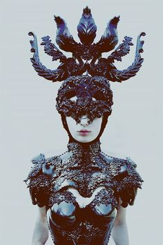Slavic fusion in a series 'Pagan Poetry' made by Polish photographer Macin Nagraba and all costumes made by Agnieszk