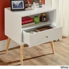 Marin Danish Modern 1-drawer Storage Accent Side Table iNSPIRE Q Modern