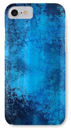 Colorful IPhone 7 Case featuring the mixed media Blue Through And Through by Otis Porritt