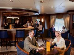 On Cunard Line's Queen Victoria, you can order high-end bubbly at the branded Veuve Clicquot Champagne Bar.