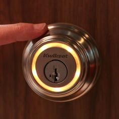 The Kwikset Kevo bluetooth-enabled deadbolt for the iPhone eliminates the hassle of carrying around keys, because your smartphone is now literally the key. Spy Gadgets, Gadgets And Gizmos, Latest Gadgets, Electronics Gadgets, Technology Gadgets, Cool Gadgets, Iphone Gadgets, Bluetooth, Bathroom Gadgets
