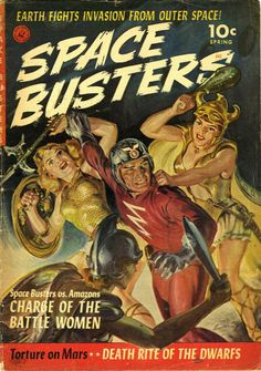 Norman Saunders, Space Busters cover
