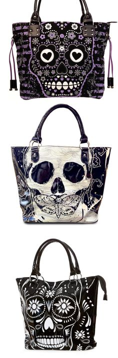 Shop goth sugar skull handbags at RebelsMarket.