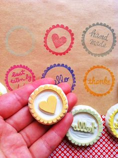 hand carved rubber stamps  ~ by talktothesun