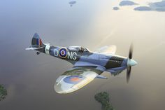"""Vickers Supermarine """"Spitfire"""" Mk XVIe, D-NG, RW386. Ww2 Fighter Planes, Fighter Aircraft, Fighter Jets, Ww2 Aircraft, Military Aircraft, Military Jets, Ww2 Spitfire, Supermarine Spitfire, Airplane Flying"""
