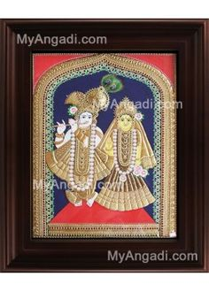 Buy North Indian Krishna Tanjore Painting @ MyAngadi.com. All India Free Home Delivery. International Shipping also available.  At Starting Price from Indian Rupees.1,750./-   See More Paintings @ http://www.myangadi.com/tanjore-paintings  For More details call us @ +91 83441 43220. Or Mail us at support@myangadi.com