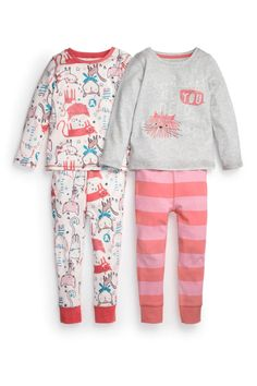 Buy Cat Snuggle Fit Pyjamas Two Pack (12mths-6yrs) from the Next UK online shop
