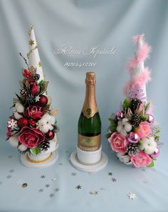Алена Крайнева Christmas Decor Diy Cheap, Christmas Decorations, Christmas Ornaments, Christmas Hamper, Pink Christmas, Hobbies And Crafts, Diy And Crafts, Chocolate Bouquet, Candy Bouquet