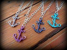 Nautical Faith and Hope Necklace