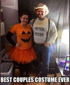 My friends wore my favorite costume I've seen this year…(via My friends wore my favorite costume I've seen this year… Funny Couple Halloween Costumes, Diy Couples Costumes, Adult Halloween, Diy Halloween Costumes, Funny Halloween Costumes, Halloween 2018, Adult Costumes, Fall Halloween, Halloween Stuff