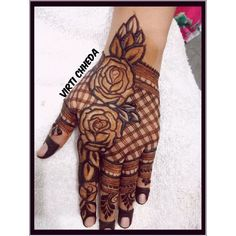 50 Most Attractive Rose Mehndi designs to try - Wedandbeyond Rose Mehndi Designs, Khafif Mehndi Design, Indian Henna Designs, Full Hand Mehndi Designs, Henna Art Designs, Mehndi Designs For Girls, Modern Mehndi Designs, Mehndi Design Pictures, Dulhan Mehndi Designs
