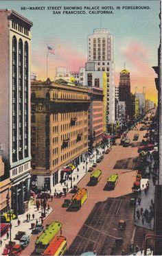 Market Street 1930s Vintage Postcard Palace by EphemeraObscura