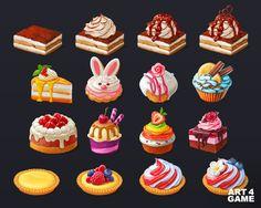 ArtStation - Panda Cookie - Cakes, Art4 Game