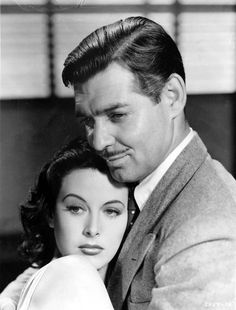 """Clark Gable and Hedy Lamarr """"Comrade X"""""""