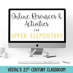 This post includes a variety of online learning resources, activities, and tips to help classroom teachers create meaningful digital lessons.  #vestals21stcenturyclassroom #onlinelearningactivities #onlinelearning #virtuallearningactivities #virtuallearning