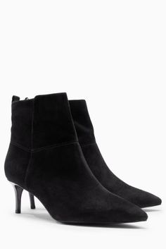 584826154814af Buy Leather Kitten Heel Ankle Boots online today at Next  Canada
