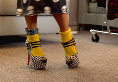 Socks and heels? We love how daring Betsey is with her personal style! We can't wait for more on #XOXBetsey, Sundays at 8/7C on #StyleNetwork.