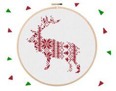 Snowflake Cross Stitch Modern Cross Stitch Pattern by Stitchonomy