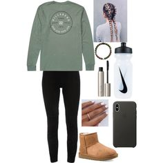 A fashion look from February 2018 featuring Elie Tahari leggings, UGG shoes and Apple tech accessories. Browse and shop related looks.