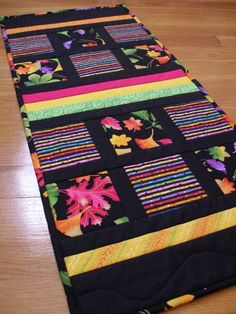 Fall Quilted Table Runner Vibrance by MoranArtandQuilts on Etsy, $38.00