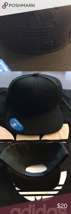 NWT adidas Trefoil SnapBack hat. Brand new never worn adidas Trefoil SnapBack hat.  Black on black one size fits all adidas Accessories Hats