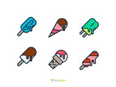 Ice cream icons by Sooodesign