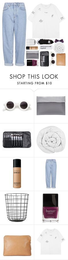 """""""Saying something stupid like i love you"""" by lolalevjesrcna ❤ liked on Polyvore featuring The Fine Bedding Company, Bare Escentuals, Boutique, Butter London, 3.1 Phillip Lim, adidas Originals, philosoqhytags and nicolewantstoseethis"""