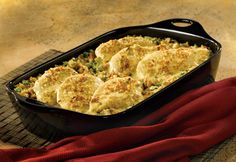 The stuffing in this baked dish makes the favorite combination of chicken, broccoli and cheese absolutely irresistible.
