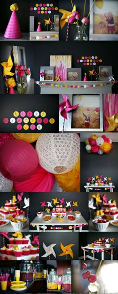 I just love this bright and bold birthday party created by the extremely talented photographer over at Pink Sugar Photography in Edmonton, . Girl Birthday, Birthday Parties, Birthday Ideas, Deco Kids, Pink Sugar, Baby Blog, Partys, Deco Table, Party Time