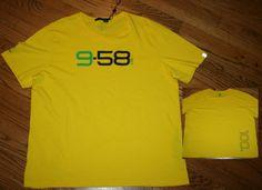 Polo Ralph Lauren RLX 958 T-Shirt Men's 2XL XXL yellow cotton tee/SEC/700/New #poloralphlauren #GraphicTee