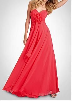 Stunning Chiffon A-line Sweetheart Bridesmaid Dress