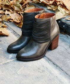 Pikolinos SEGOVIA Ladies Womens Leather Reptile High Heel Zip Up Boots Cuero Tan