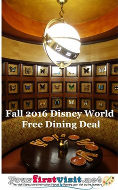 Disney World's Free Dining Deal for Fall 2016 released - details here.