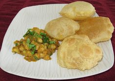 Seasoned Chickpea curry - great with pooris or any Indian flatbread
