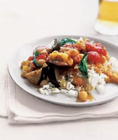 Curried Eggplant With Tomatoes and Basil | RealSimple.com