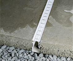 concrete patio with french drain | PLASTIC DRAINAGE SYSTEMS #canteros