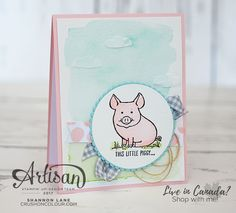 Crush On Colour: Appreciative Pig - This Little Piggy