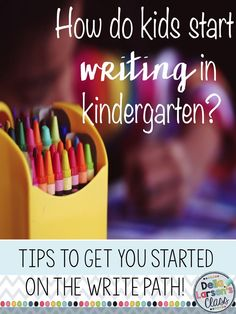 How do you teach writing in kindergarten? Tips and ideas about how to start a writing program in kindergarten.
