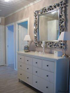 Cômoda provençal - espelho - decoração de quarto