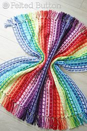 With fabulous color changes, a rhythmic stitch pattern and no ends to weave (hence, tassels!), the Color Reel Blanket is a superb crochet blanket for anyone. Bust your stash or use the yarn/colors outlined in the detailed and thoroughly tested pattern to make a blanket just your size and style!
