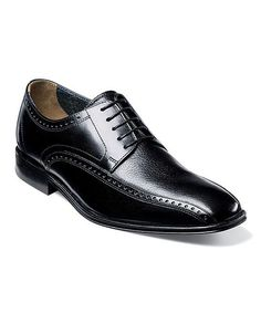 Black Orlando Leather Oxford - Men